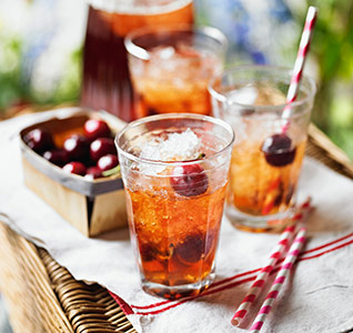 Cherry Pimm's punch