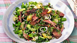 LOVE life beef & new potato chimichurri salad