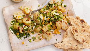 New potato & cauliflower salad