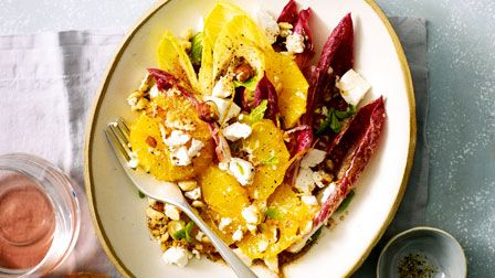 Orange, chicory & goat's cheese salad