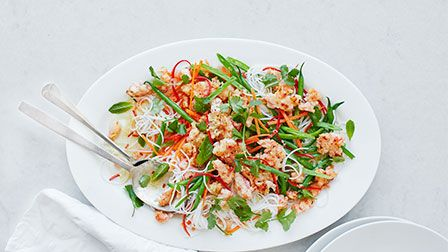 Thai prawn larb salad