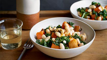 Warm kale & squash salad