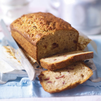 Banana tea loaf with cranberry & cardamom