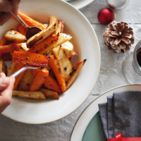 Honey-glazed roast carrots & parsnips
