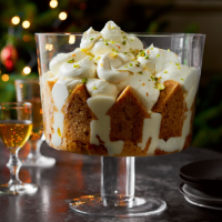 Orange & ginger syllabub trifle