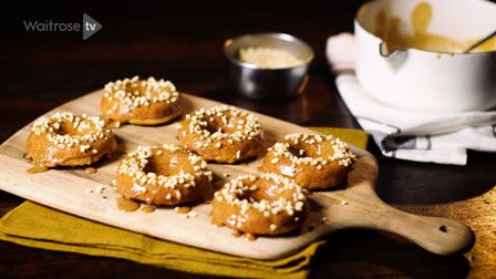 Love to Bake: Izy Hossack's Banana and honey baked doughnuts with almond butter glaze