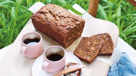 Courgette, mint and sultana tea bread