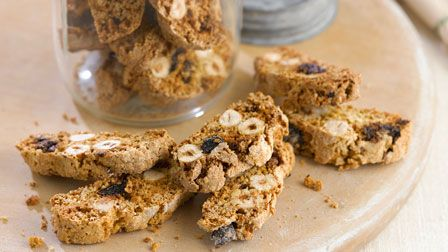 Hazelnut and chocolate orange biscotti