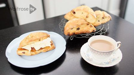 John Whaite's cranberry and white chocolate scones