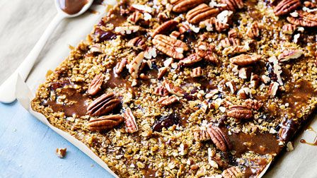 Martha Collison's Sticky toffee flapjacks