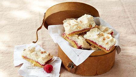 Raspberry coconut slices