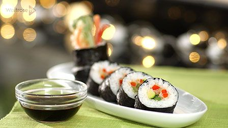 Sushi with tempura vegetables