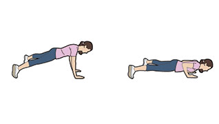 Wide-feet push-up