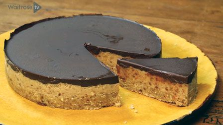 The Happy Pear's Gluten-free and dairy-free salted caramel chocolate tart